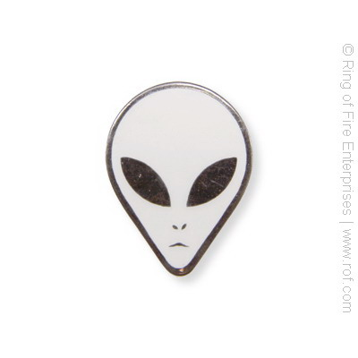 Alien Face Lapel Pin aliens, greys, alien, face, pin