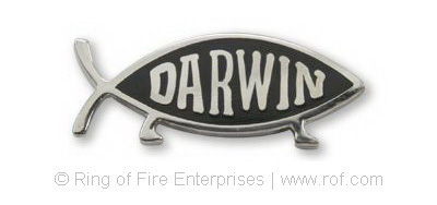 Darwin Fish Lapel Pin darwin,darwin fish,lapel pin