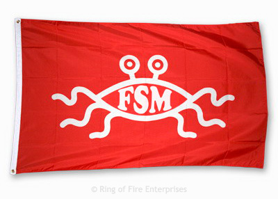 Flying Spaghetti Monster Flag flying spaghetti monster,fsm,flag,flags,fish,bobby henderson