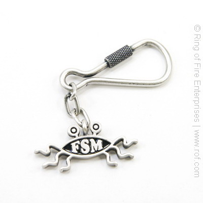 Flying Spaghetti Monster Keychain fsm,flying spaghetti monster,keychain,key,chain