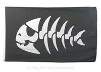 Jolly Pirate Fish Flag pirate, pirates, jolly pirate, fish skeleton, Bobby Henderson,fsm,flying spaghetti monster