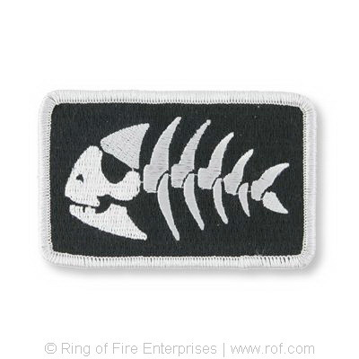 Jolly Pirate Fish Iron-on Patch Bobby Henderson,fsm,flying spaghetti monster,pirate,jolly,jolly pirate