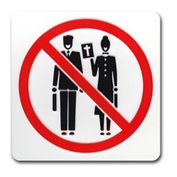 NO PREACHING ALLOWED Symbol Door Plaque no preaching,disciples,Jehovahs Witness,mormons