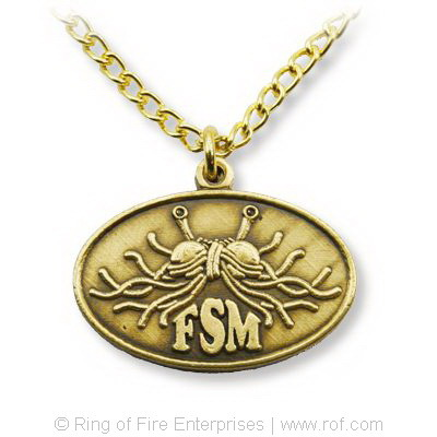 Oval Flying Spaghetti Monster Necklace/Pendant Bobby Henderson,fsm,flying spaghetti monster,pastafarian,pastafarianism