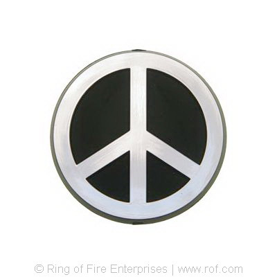 "Peace Sign Car Emblem - 4"" (10 cm) peace, peace sign,car badge, badge"