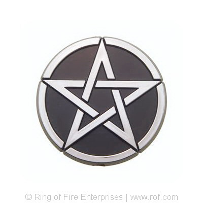 Pentagram Car Emblem pentagram,pentacle, car emblem,car sticker, car badge, badge